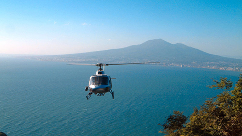 Etna helicopter flight