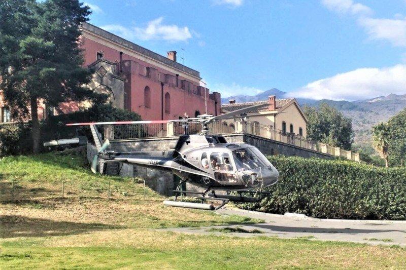 Etna - helicopter flight - base