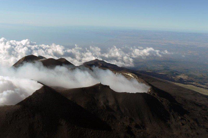 Etna - helicopter flight - volcano