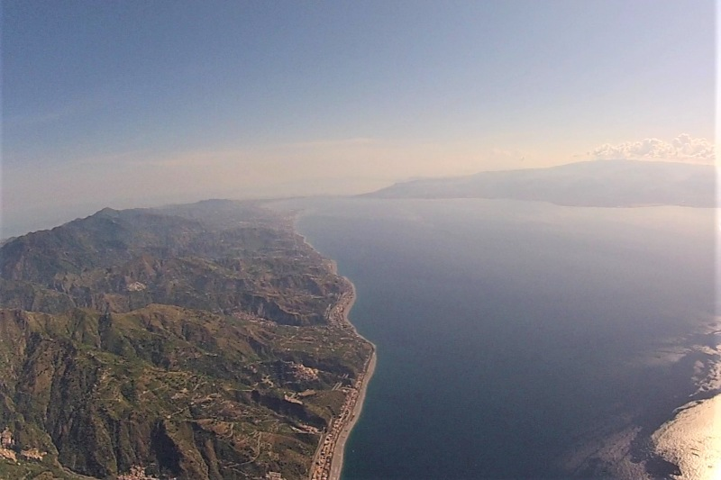 Streight of Messina - Helicopter flight volcanos of Sicily