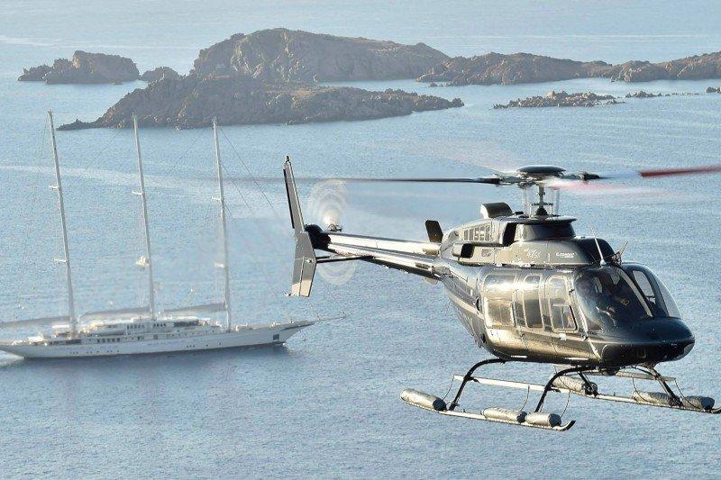 Helicopter transfer Taormina - Catania - Aeolian islands - Capri