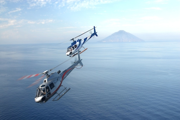 MICE - TAORMINA - ETNA - Event with two helicopters on Etna